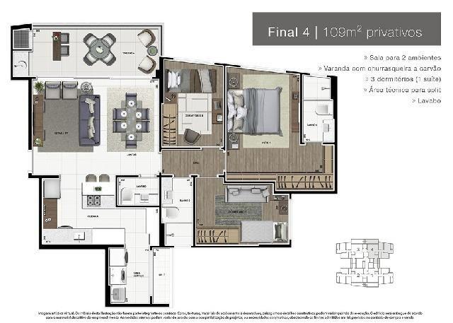 Apartamento Novo Alto Padrão no Ecoville - Foto 5