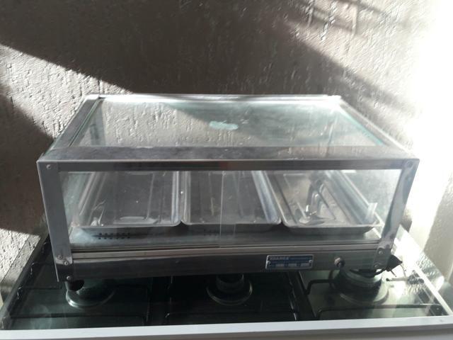 Estufa inox elétrica para salgados