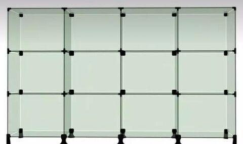 Balcão vidro modulado