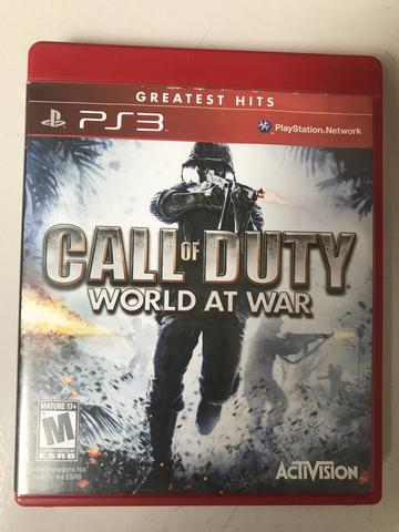Call of duty word at war, PlayStation 3