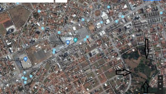 Área nobre de 56.000m² próximo ao buriti shopping na Av. Urú até a rua dourados