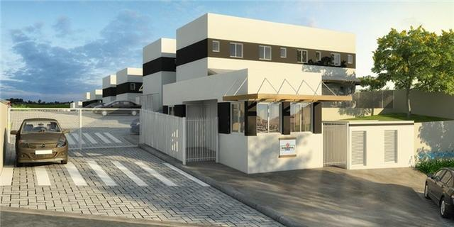 Casas de 50m² - 2 dormitorios - quintal de 12m² nos fundos - 1 vaga de garagem, com lazer