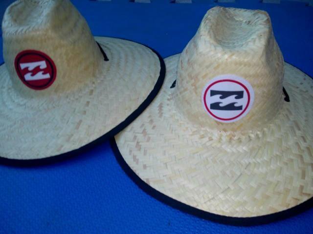 Chapéu de palha quiksilver ou billabong estampado - Bijouterias ... b9b516dffa6