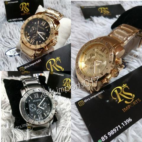 bb918871113 Relógio Original Atlantis modelo Bvlgari - Campeão de vendas ...