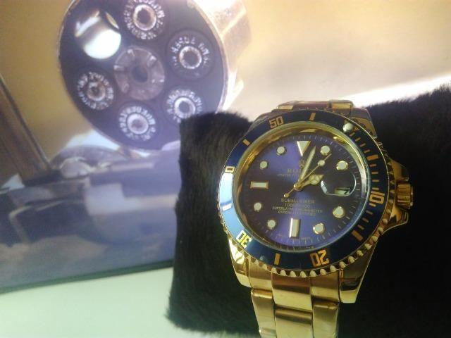 b3df4684804 Relogio masculino dourado rolex submariner aço a prova d agua ultimas  unidades