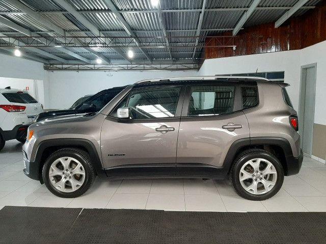 Jeep renegade automática limited 6 marchas banco de couro multimídia único dono 2018 - Foto 5