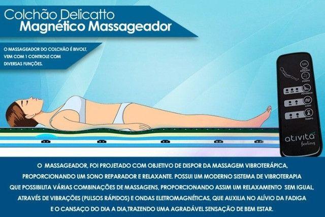 Colchão Magnético com Massageador e Infravermelho Longo. Completo 15 anos Garantia - Foto 6