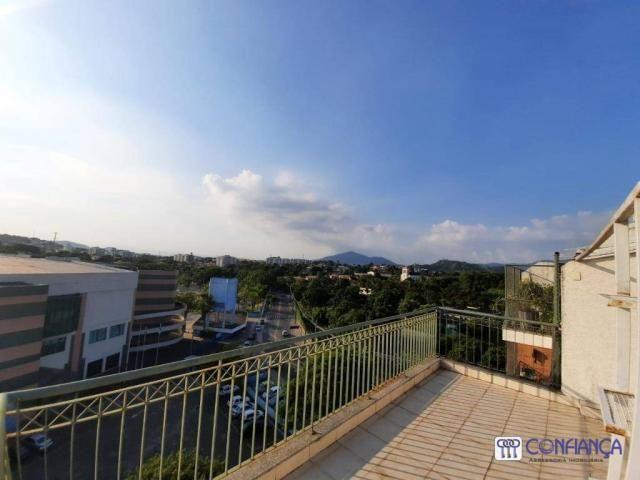 Cobertura com 2 dormitórios para alugar, 147 m² por R$ 2.200,00/mês - Campo Grande - Rio d