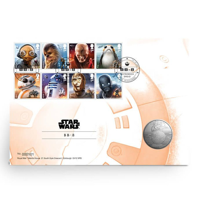 Star Wars: Medalha   BB-8 Edição Limitada(fc)-uk
