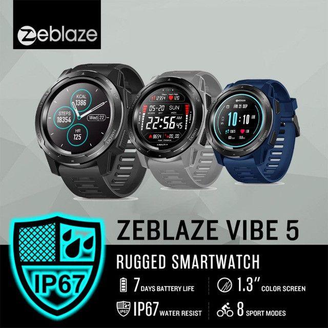 Relógio Smartwatch Zeblaze Vibe 5 Pro - Touch Screen - Preto - Foto 4