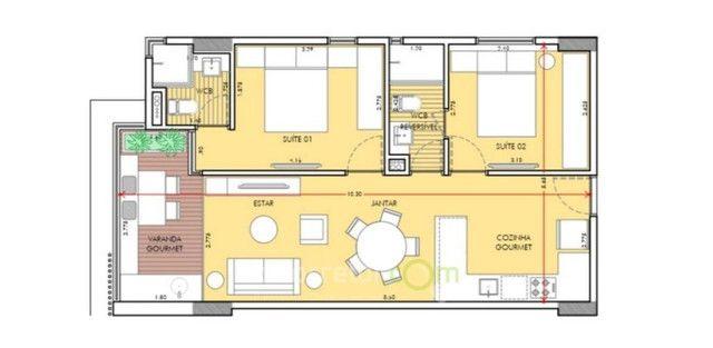 Apartamento com 1 Quarto em construção no Bairro de Tambaú - Foto 8