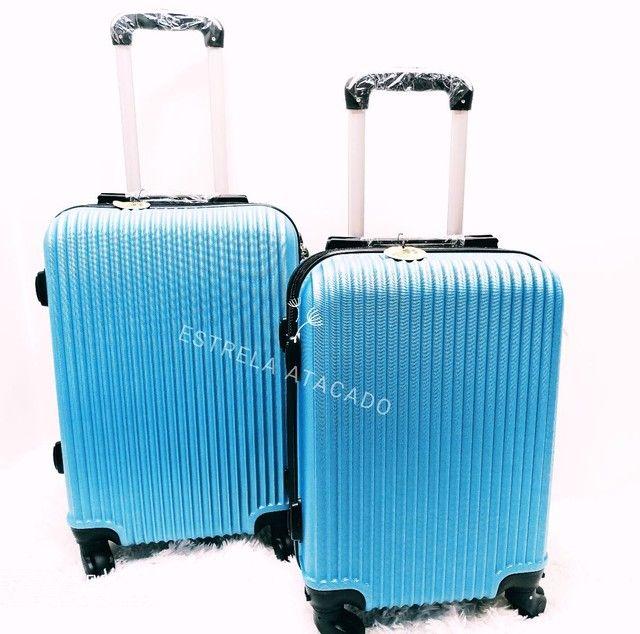 Mala de Viagem kit com 2 peças ABS 360°  Cadeado
