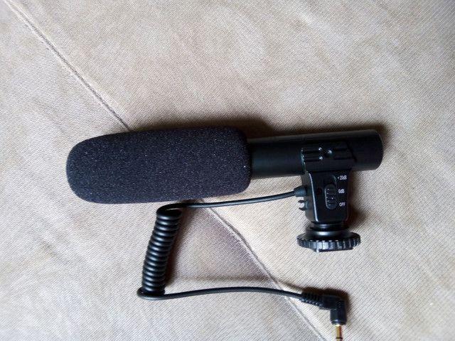 Microfone captador para câmeras/filmadoras/celulares/ notebook - Foto 2