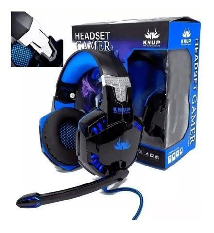Promoção - Headset Gamer Com Led - Novo