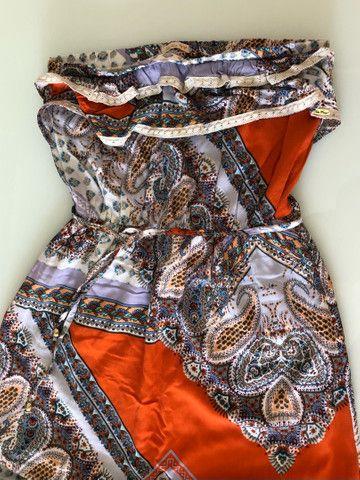 Vestido longo estampado - Foto 3