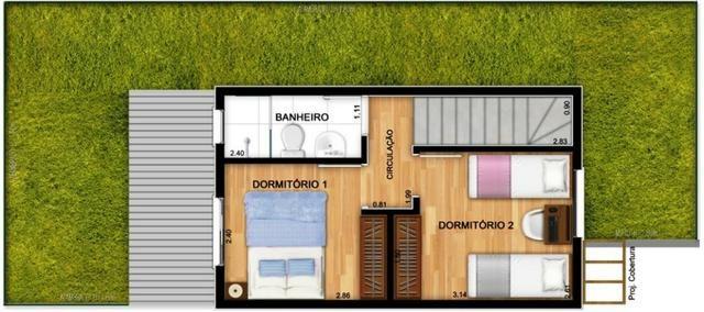Casas de 50m² - 2 dormitorios - quintal de 12m² nos fundos - 1 vaga de garagem, com lazer - Foto 11