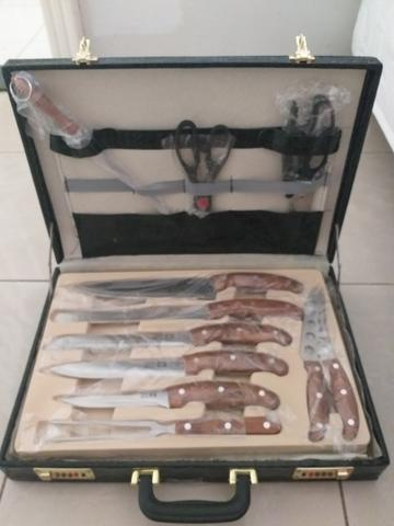 Kit churrasco faqueiro 25 peças - Foto 5