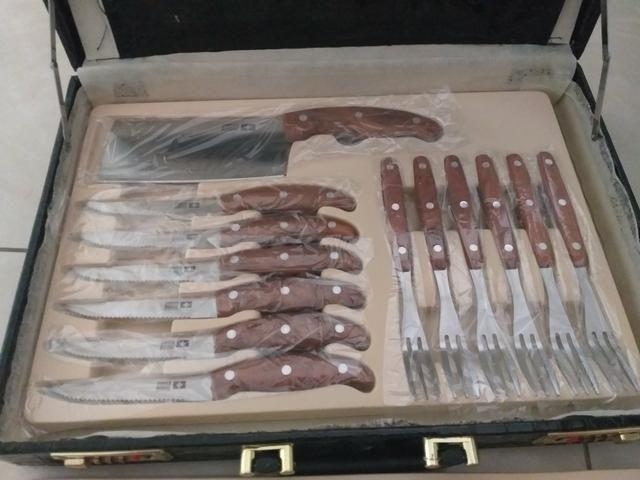 Kit churrasco faqueiro 25 peças - Foto 4