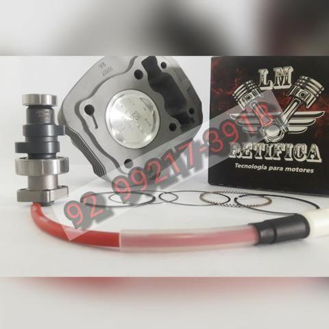 Kit Motor Cgtitan/bros160p/190cc 4mm Comando + Cabo Ibooster