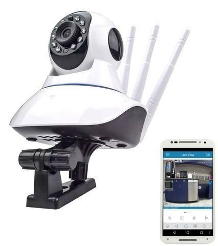 Câmera Ip 3 Antenas Wireless Sem Fio Onvif Wifi Hd Sensor Noturna Rotação App Smartphone - Foto 2