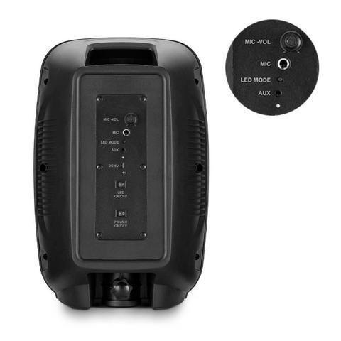 Caixa de Som Mini Torre Party Tws Bluetooth 5.0 Sp336 Multilaser 200W Rms Luzes Led Usb - Foto 5