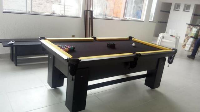 Mesa de Bilhar de Redes Tecido Preto Tx Cor Preta Modelo HRT7121 - Foto 3
