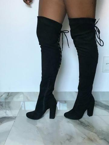 Bota Over The Knee Preta - Roupas e calçados - Jaqueline e3d8587655af9