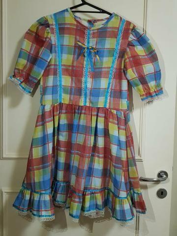 Vestido Infantil Tamanho 12 Festa Junina