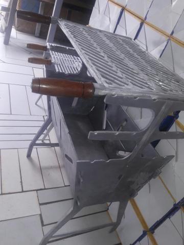 Churrassqueiras G de aluminio desmontavel
