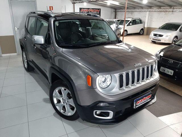 Jeep renegade automática limited 6 marchas banco de couro multimídia único dono 2018 - Foto 13