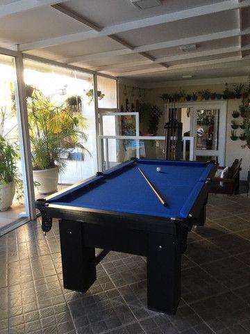 Mesa Charme de Sinuca Cor Preta Tecido Azul Mod. PNXC5260 - Foto 2
