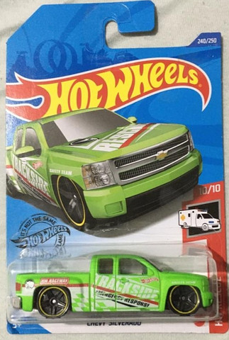 Hot Wheels Chevy Silverado T Hunt - Item De Colecionador - Foto 4
