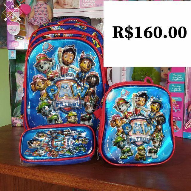 Kit de mochilas de rodinha - Foto 3