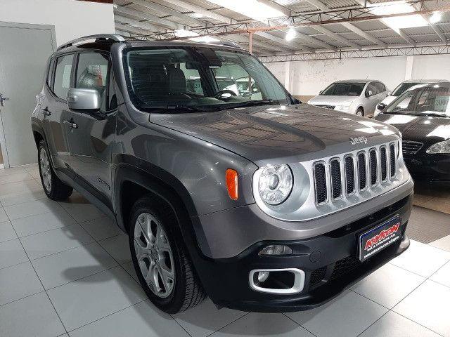 Jeep renegade automática limited 6 marchas banco de couro multimídia único dono 2018 - Foto 17