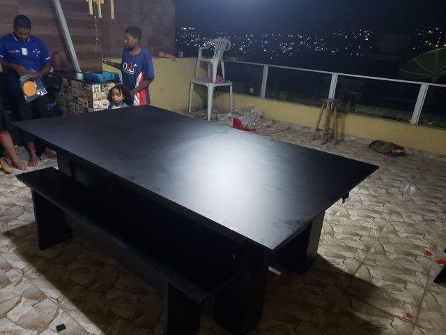 Mesa Charme de Bilhar Cor Preta Tecido Preto Mod. EKDL9565 - Foto 3