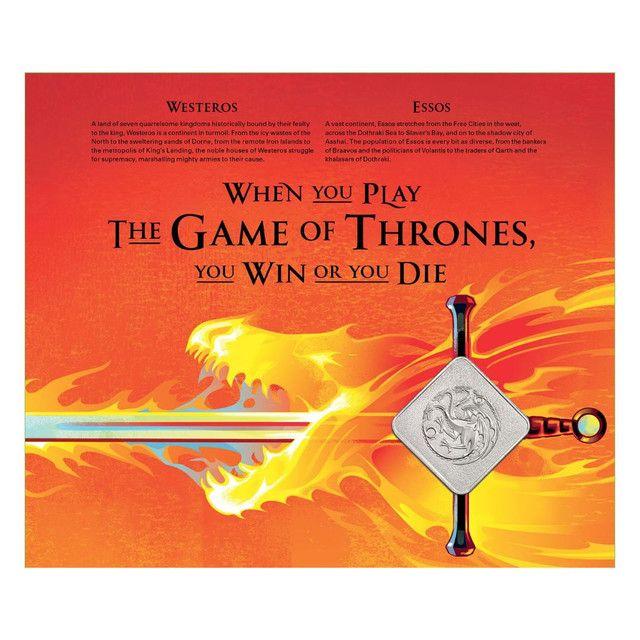 Medalha Game Of Thrones House Targaryen Edição Limitada - Foto 4