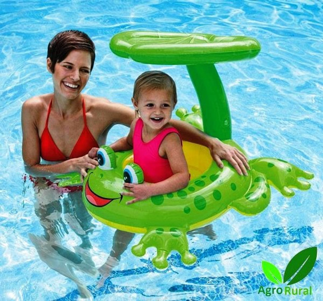 Boia De Segurança Sapinho, Inflável Infantil Com Proteção. Para Praia, Piscina Ou Clube