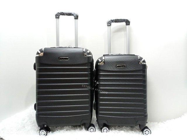 Kit contendo 2 MALAS De Viagem ABS 360° NOVAS