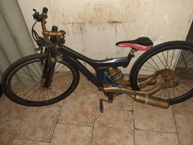 Bike Aro 26 com suspensão a ar - Foto 6