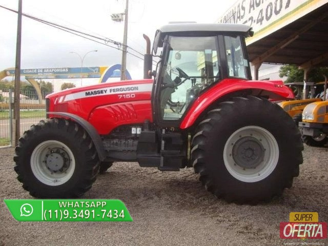 Trator Massey Ferguson 7150 4x4 ano 12 - Foto 6