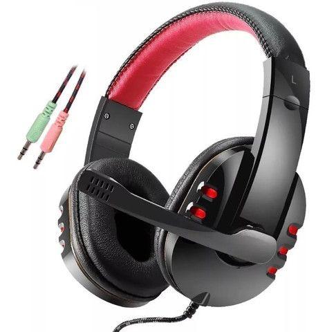 Fone Headphone Gamer com Microfone HF G230 Vermelho - Foto 2