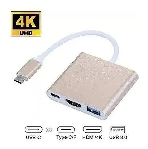 Conversor USB Tipo C para Hdmi Hub Tipo C Multi Função Funciona em MAC- Loja Natan Abreu - Foto 5