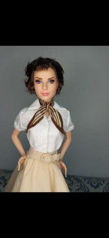 Boneca Barbie Collector Audrey Hepburn Roman Holiday - Foto 3