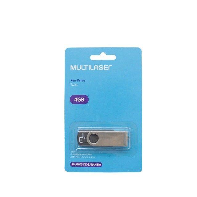 Pen drive 4GB Multilaser Original - Foto 2