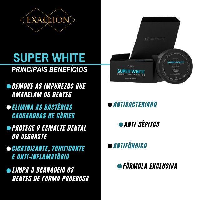 Clareador Dental Com Carvão Ativado ''Super White'' Fórmula Exclusiva - Foto 3
