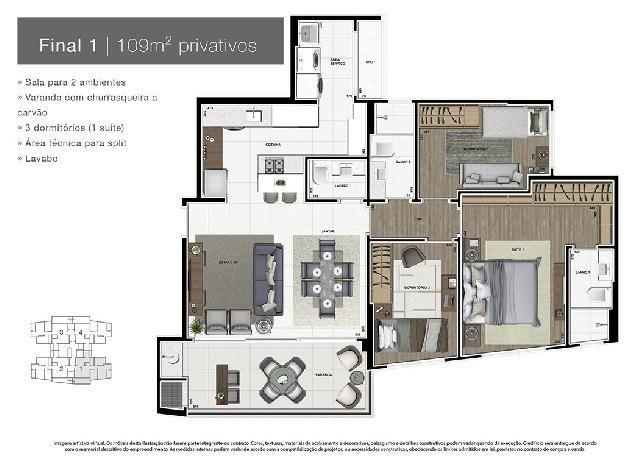 Apartamento Novo Alto Padrão no Ecoville - Foto 2