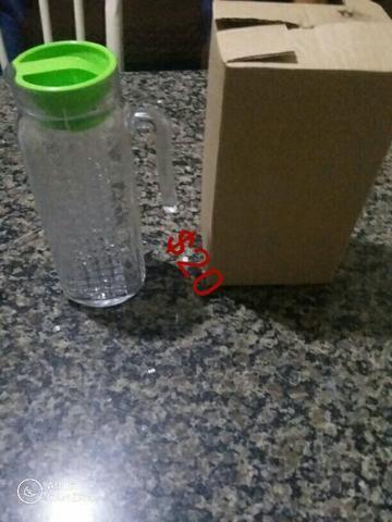 Jarra de vidro com tampa
