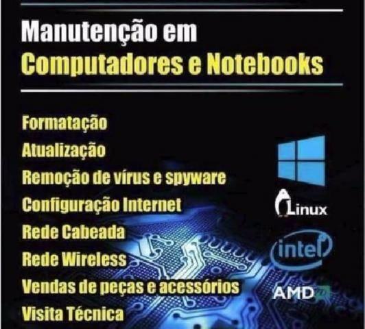 Formatação de Computadores e Notebooks E NETBOOK em Domicilio de segunda a domingo e feria