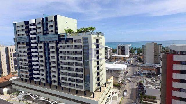 Apartamento quarto e sala com 32m² - Edifício Time Studio - Ponta Verde