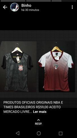 13c2fc3721 Camisas originais da nba e clubes brasileiros - Roupas e calçados ...